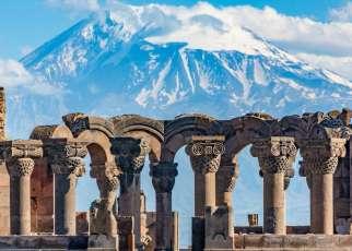 Widok na Ararat Armenia, Wyc. objazdowe