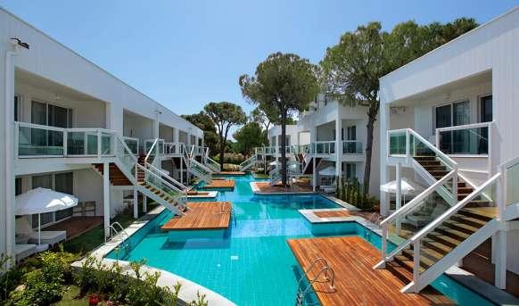 Justiniano Deluxe Resort, Alanya Törökország – last minute, all inclusive