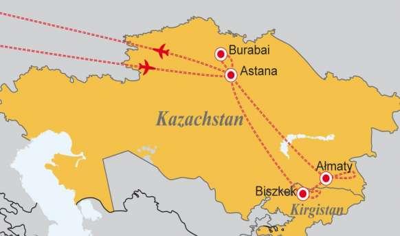 Kazachstan i Kirgistan - W stepach szerokich