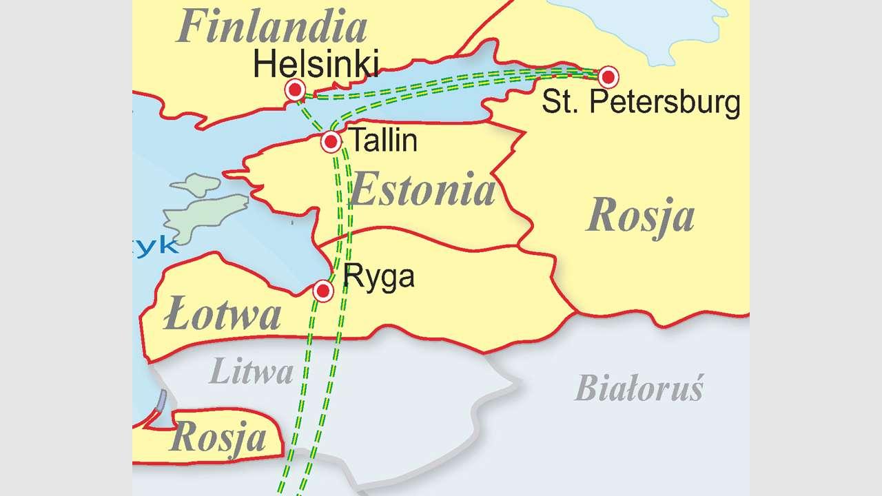 Rejs do Petersburga - Łotwa - Estonia - Finlandia - Rosja