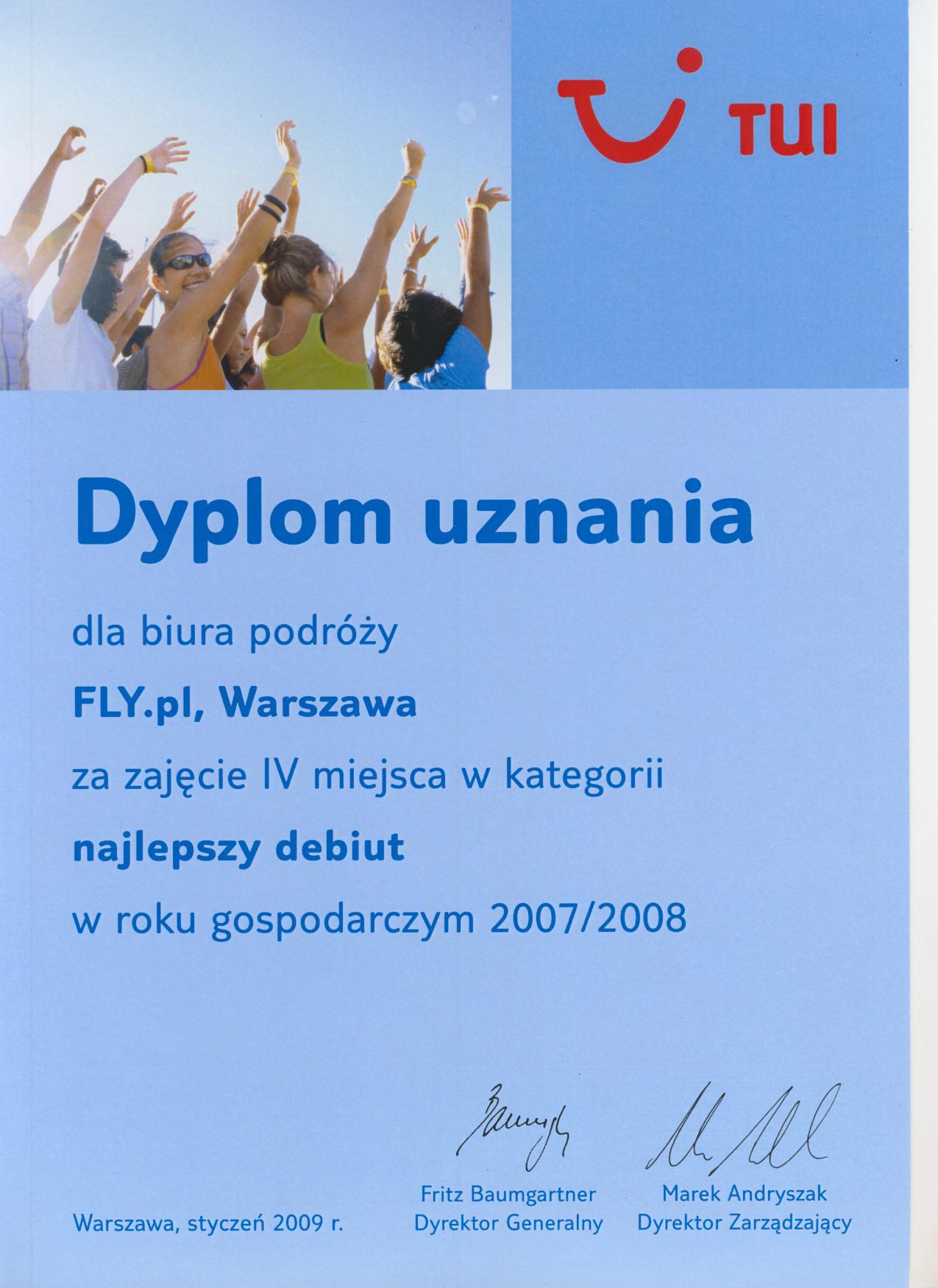 Dyplom TUI Poland
