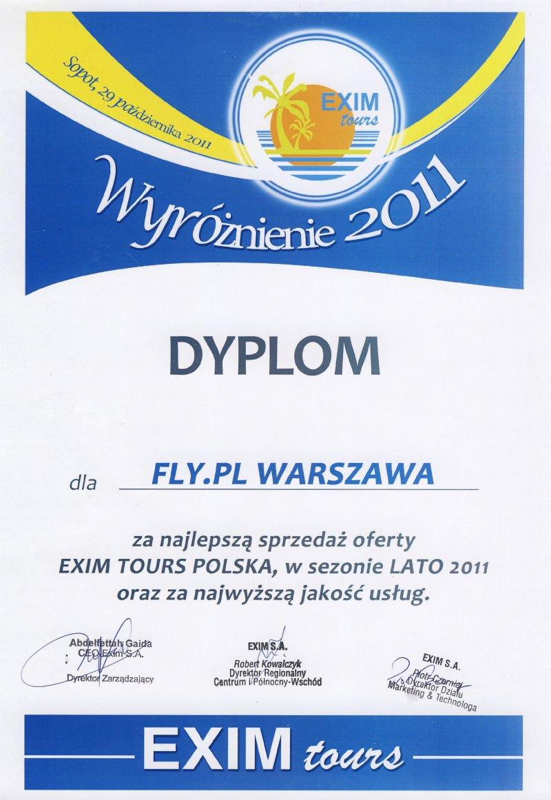 Dyplom Exim Tours