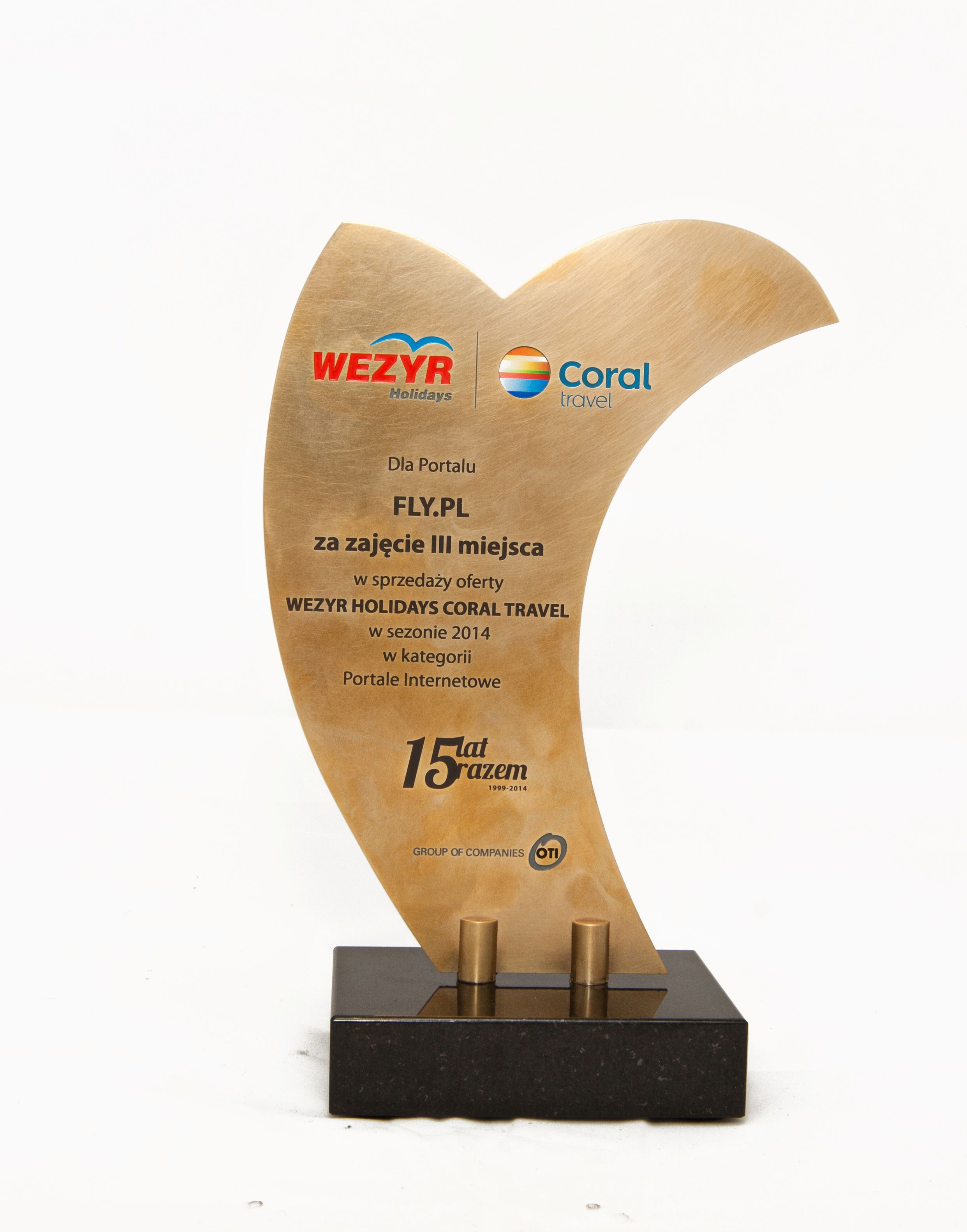 Nagroda Wezyr Holidays Coral Travel dla FLY.PL