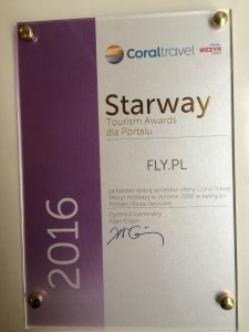 Starway Tourism Awards dla FLY.PL