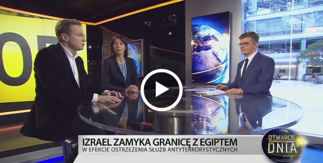 Wakacje w Egipcie - M. Nykiel w TVN24 BiŚ