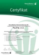 Certyfikat HanseMerkur