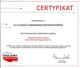 Licencja użytkowania systemu Krajowego Rejestru Długów