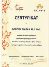 Certyfikat najwyższej jakości od biura Sun & Fun Holidays
