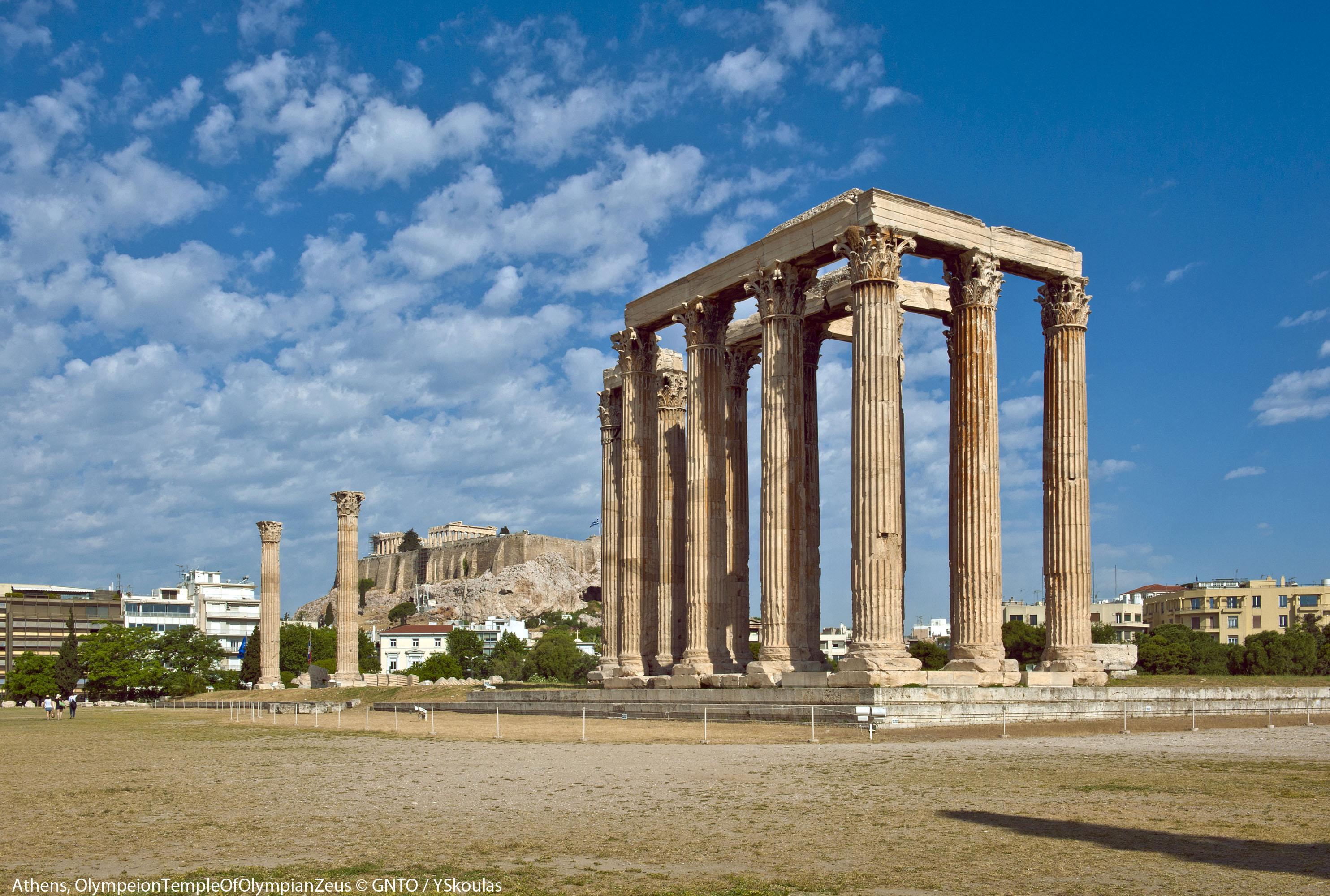 Grecja Ateny – świątynia Zeusa Olimpijskiego