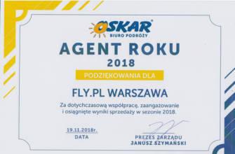 Dyplom Agent Roku 2018 od biura Oskar