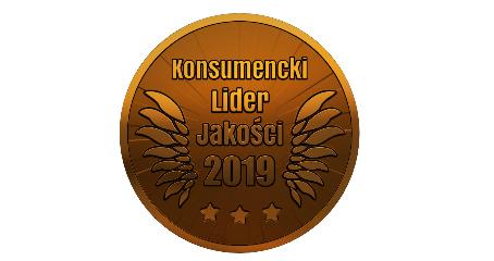 Konsumencki Lider Jakości 2019 brązowe godło