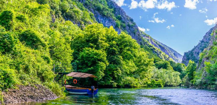 Kanion Matka w pobliżu Skopje
